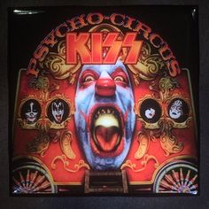 KISS Psycho Circus Record Cover Art Ceramic Tile Coaster