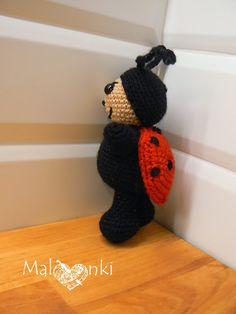 Amigurumi crochet ladybug biedronka