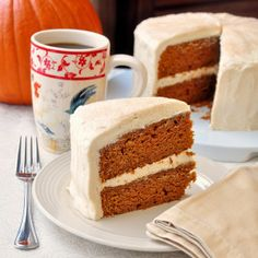 Sticky Toffee Pumpkin Cake with Brown Butter Cream