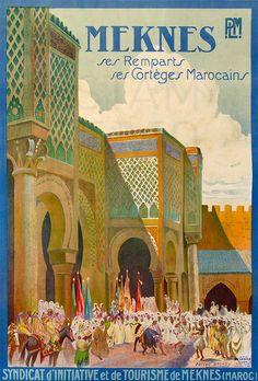 Matteo Brondy Trains Plm Meknes Maroc 105X74 Baconnier by estampemoderne.fr, via Flickr