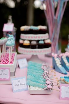 Cinderella Princess themed birthday party via Kara's Party Ideas ...