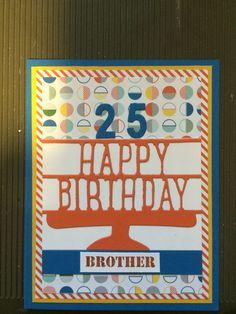 Generic birthday card . Stampin up