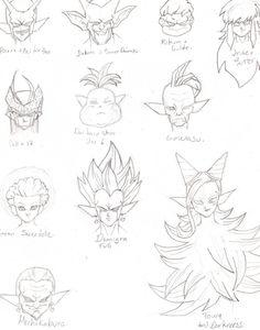 Dragon Ball Z character reference material.  #SonGokuKakarot