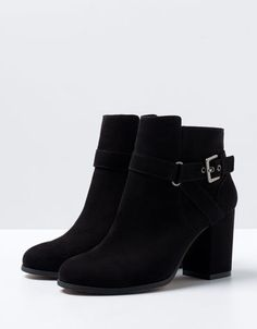 Bershka Deutschland - Stiefelette Absatz Schnalle BSK - Size 6 - Daily boots so that i don't use up my expensive ones :)