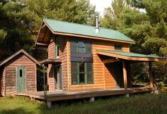 DIY 704 Sq. Ft. Hand Built Off Grid Tiny Cabin, adorable.