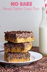 No Bake Peanut Butter Bars | bakeatmidnite.com | #nobakepeanutbutterbars #desserts
