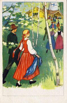 Martta Wendelin Juhannus (Midsummer) - Finnish Summer Solstice Illustration :)