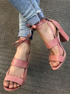 While Supplies Last Pink Strap Detail Heeled Sandals #elegantshoegirl #shoes #ankle  #boots #flats #fashions #womens