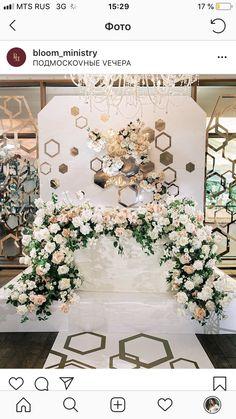 Wedding Stage, Hotel Wedding, Dream Wedding, Floral Wedding, Wedding Flowers, Bridal Table, Wedding Decorations, Table Decorations, Star Party