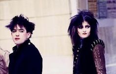 Robert Smith and Siouxsie Sioux by clarice