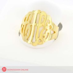 This is one of a kind , hand made to your specification, using 2 or 3 initials monogram ring. The ring is made from solid gold with a high polish finish to give it a bright shine. Monogram Initials, Monogram Jewelry, Monogram Online, Name Necklace, Solid Gold, Rose Gold, Rings, Handmade, Etsy
