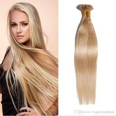 Ash Blonde ( Nail Tip Human Hair Extensions Kinky Curly Hair, Curly Hair Styles, Natural Hair Styles, Brazilian Hair Wigs, Hair Extensions Best, Body Wave Hair, Womens Wigs, 100 Human Hair, Wig Hairstyles