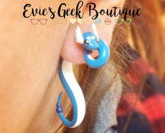 Boucles d'oreille Style Pokemon Dragonair par EviesGeekBoutique
