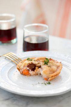 mini chicken pot pies | designlovefest