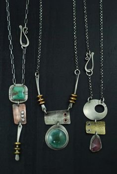Necklaces by Maggie J | Flickr -- I really like her jewelry.