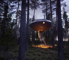Tree House Hotel (Sweden) - A hotel created to let people experience nature amongst the tree-tops. It offers exciting room design where the stress of daily life will be sure to melt away. - Want to discover more hidden gems in Europe? All of them can be found on www.broscene.com