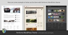 Performs - Corporate Business WordPress Theme