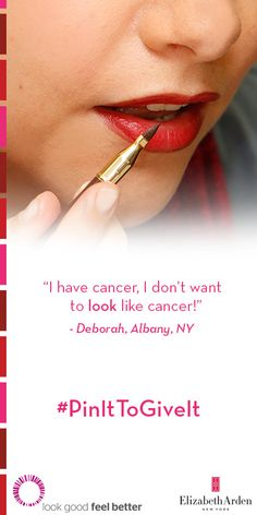 #PinItToGiveIt with us! For every repin, we'll donate a lipstick to charity partner Look Good Feel Better. #ArdenRed