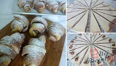 Extra jemné, lahodné croissanty s čokoládou Wonton Recipes, Cookie Recipes, Pomelo Recipe, Croissants, Halvah Recipe, Nutella, Cream Cheese Wontons, Delicious Desserts, Yummy Food