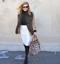 zebra print, fur vest