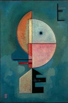 """Upwards Kandinsky, Wassily 1866-1944. """"Upwards"""", 1929. Oil on card, 70 x 49cm. Venice, Peggy Guggenheim Collection. 330 g/m² canvas fabric matt appearance without reflections ready to be hung on stretcher (frame depth 2..."""