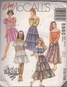 MOMSPatterns Vintage Sewing Patterns - McCall's 5980 Retro 90's Sewing Pattern…