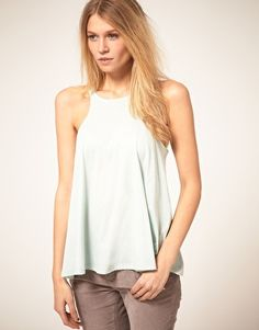 Pale mint tank...casual/cute with white jeans for summer