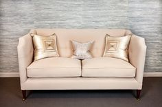 Frederick High Back Sofa - This clean lined, contemporary version of a knole style sofa is pictured here with a sectioned and quilted back, is raised on elegantly tapered legs and Upholstered Furniture, Furniture Collection, Valance, Love Seat, Couch, Contemporary, Elegant, Sectional Sofas, Arms