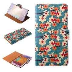 Nine States Synthetic Blue Flower Branch Protective Flip Case for Samsung Galaxy Note 3 III N900P with Slots and Kickstand + Nine States Logo Pouch Nine States http://www.amazon.com/dp/B00MHIGJFI/ref=cm_sw_r_pi_dp_B4tqub1W462D2