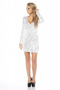 Sequin Shimmer Dress $67