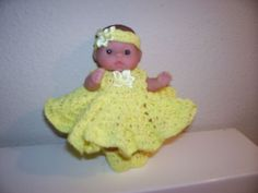 "Little 5"" Lots of love Doll with Yellow Dress, Headband, Shoes and Panties"