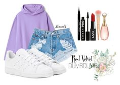 """Red Velvet"" by jissox on Polyvore featuring moda, Levi's, adidas, LORAC, Givenchy y Christian Dior"