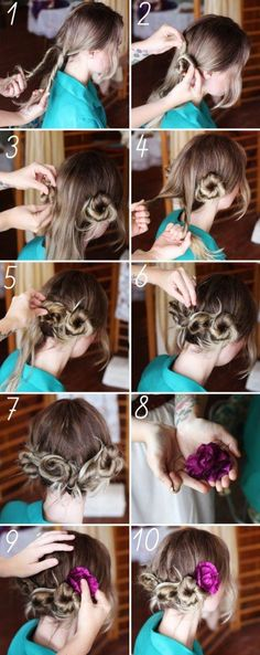 DIY | Pretty Twisted Updo Hairstyle Tutorial