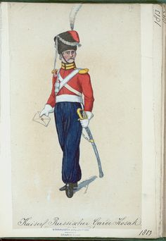 Guard Cossack (NYPL > The Vinkhuijzen collection of military uniforms > Russia. > Russia, 1813 [part 2])