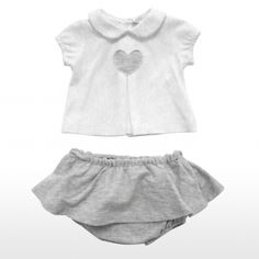Two pieces piquet set made by short sleeves t-shirt and skirt with coulotte for €87.00
