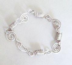 Spirals and Springs Sterling Silver Bracelet