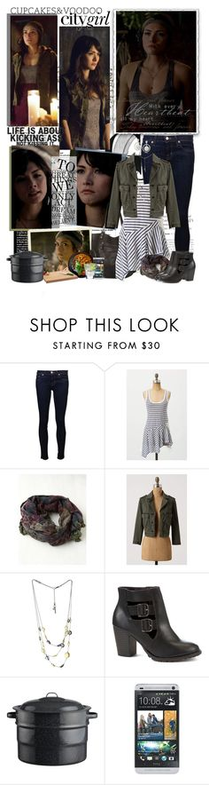 """""""Sophie Deveraux (TVD & The Originals)"""" by noseinanovel ❤ liked on Polyvore featuring Episode, J Brand, Free People, Kenneth Cole, Crate and Barrel and HTC"""