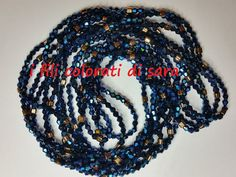 Lunghissima collana di cristalli azzurro di ifilicoloratidisara