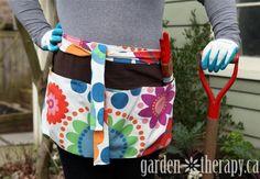 How To Make A DIY Garden Apron Tutorial.