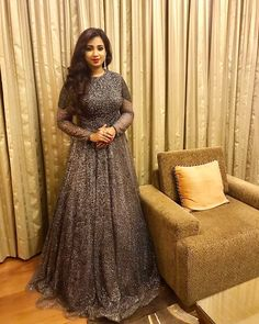 #shreyaghoshal #shreyaghoshalliveinconcert #shreya #sgmagicalhits Indian Gowns Dresses, Girls Dresses, Shreya Ghoshal Hot, One Piece Gown, The Dress, High Neck Dress, Indian Designer Wear, Designer Dresses, Fashion Show