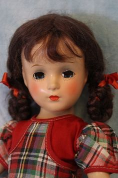 "c.1940's 14"" Early Composition Madame Alexander Margaret O'Brien Doll"