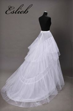 Sewing Dresses New Pattern Special Petticoat Will Drag. Wedding Dress Bustle Bride Thick And Disorderly Gauze Skirt Tail Wedding Dress Bustle, Wedding Gown A Line, Wedding Party Dresses, Bridal Dresses, Dress Party, Hoop Skirt, Wedding Dress Patterns, Creation Couture, Costume Dress