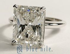 Radiant Cut Diamond Engagement Ring in a Classic Four Prong Setting #BlueNile