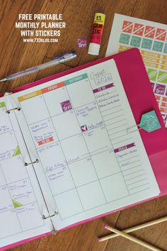 Download this printable free monthly planner to help keep you organized month-to-month, year after year!
