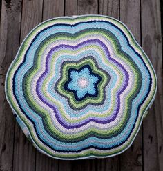 PDF... ***This listing is for the crochet pattern only. Finished pouf (cushion) is not included!*** My pouf measures approx. 17.7 inches/ 45 cm in diameter and approx. 6.7 inches/ 17 cm in high. I used fingering/sport weight yarn and the hook size 2.5 mm. By using thicker yarn you will