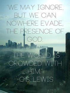 CS Lewis - God's presence