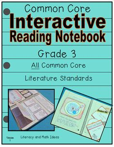 Grade 3 Common Core Interactive Reading Notebooks (All Literature Standards)  A short reading passage PLUS interactive notebook inserts are included for every Common Core Literature Standard too.  This is a fun way to learn about Common Core.