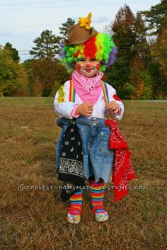 Cute Rodeo Clown Costume for 2-Year-Old... Coolest Halloween Costume Contest