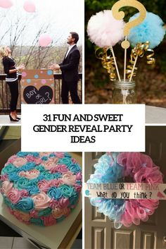 A baby shower can be much more interesting and a bit puzzling if you make it a gender reveal one. Here are some sweet ideas to throw a gender reveal party. Fall Gender Reveal, Simple Gender Reveal, Baby Gender Reveal Party, Gender Party, Disney Gender Reveal, Gender Reveal Gifts, Unique Gender Reveal Ideas, Baby Reveal Cakes, Twin Gender Reveal