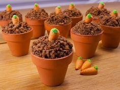 Leckere Schokomuffins mit witziger Deko: überrasche Deine Gäste mit dieser leckeren Backidee zu Ostern oder zwischendurch. Ganz einfach!